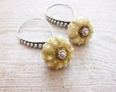 Green Sea Urchin Ohrringe spezielle Kupfer von StaroftheEast