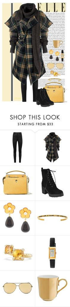 """Need to Stay Warm"" by gemique ❤ liked on Polyvore featuring Oris, Manokhi, Vivienne Westwood Anglomania, Fendi, Lizzie Fortunato, David Yurman, Gucci, Quay and Richard Brendon"