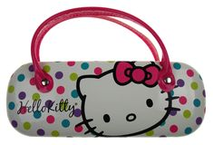 5f64ce236 Hello Kitty Sunglasses Eyeglass Reading Hard Case Polka Dots Licensed  Handles. FUNsational Finds