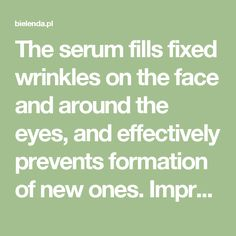 The serum fills fixed wrinkles on the face and around the eyes, and effectively prevents formation of new ones. Improves density and elasticity of the skin. It lifts, smoothes and firms the skin, shapes the oval of the face, visibly slows down the aging process. Restores vitality and radiance to the skin, intensely moisturizes.  Action Spectacular anti-wrinkle effects are guaranteed by intelligent active ingredients with proven efficacy and precision, which penetrate deeply into the skin and…