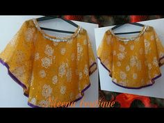 cape drape top cutting and stitching with measurement - YouTube