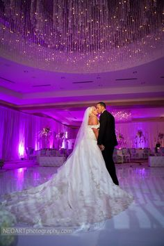 White pipe and Drape all around the Ritz Carlton Ft.lauderdale Ballroom with Purple LED Uplights
