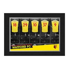 46509599ef9 Buy Football Wall Art · Official PERSONALISED Watford FC 9x6 Dressing Room  Photo ... https://www