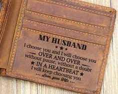 Best dad gifts - Great Gift For Husband Engraving Leather Wallet Perfect Gift For Your Husband – Best dad gifts Thoughtful Gifts For Him, Surprise Gifts For Him, Romantic Gifts For Him, Gifts For Fiance, Great Gifts For Dad, Diy Gifts For Him, Perfect Gift For Dad, Diy Gifts For Boyfriend, Love Gifts