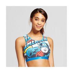 d441c9abf17 Marvel Captain America Blue Women s License High Neck Bralette ( 13) ❤ liked  on Polyvore