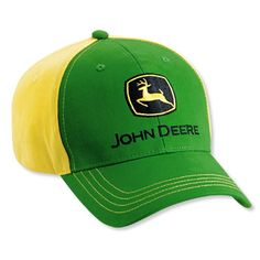 7cf683d7c9caf John Deere Green Yellow Youth Colorblock Hat   For more information