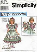 "Simplicity Child's Dress&Pinafore&13"" Doll Clothes Pattern 8553 5-6X UNC"