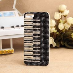 iPhone 5 Piano jewelled Rhinestones Crystals Back Cover 3d Iphone Cases, Landline Phone, Crystal Rhinestone, Rhinestones, Piano, Jewels, Crystals, Cover, Bijoux