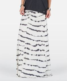 Love this White Wicked Lightning Maxi Skirt by Volcom on #zulily! #zulilyfinds