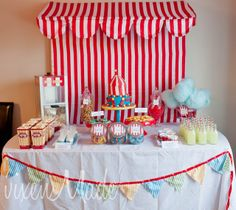 Vintage Carnival Themed Baby Shower.