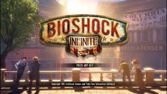 Some of my favorite video game title screens of all time Bioshock Infinite, Take Two Interactive, Interactive Design, Irrational Games, Bioshock Series, Start Screen, Assassins Creed Odyssey, Game Title