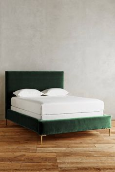 Green Velvet Bed