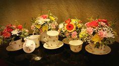 Tea party flower arrangement