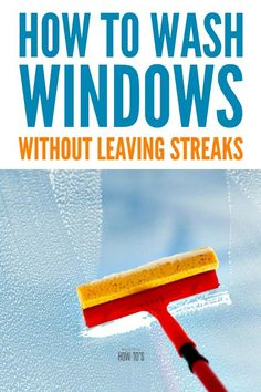 How to Wash Windows Without Leaving Streaks - Ever since a professional window-washer gave me these tips, I've stopped putting off this chore. Window Cleaning Solutions, Window Cleaning Tips, Household Cleaning Tips, Deep Cleaning Tips, House Cleaning Tips, Natural Cleaning Products, Spring Cleaning, Cleaning Hacks, Best Window Cleaning Solution