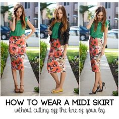 3 Ways To Wear A Mid Calf Skirt Without Looking Stumpy (5 Easy Tips!)