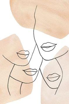 Female Lips Neutral Colors - Canvas Print