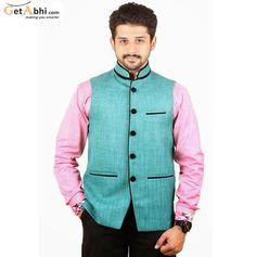 Buy Green Color Rai Sahab Modi Jacket and Nehru Jacket For Men Online in India Nehru Jacket For Men, Nehru Jackets, Grey Suit Men, Mens Suits, Modi Jacket, Ethenic Wear, Indian Fashion, Mens Fashion, Men Online