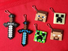 Minecraft DIY perler kits - great birthday party favor and party activity
