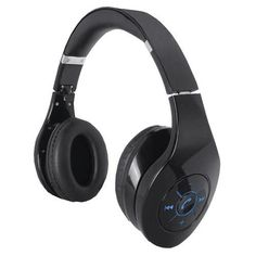 Supersonic Bluetooth Rechargeable Headphone with Portable speaker and FM/MP3 Player- Black