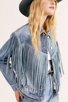 After Hours Fringe Denim Jacket Style Emo, My Style, Curvy Style, Jean 1, Jeans Denim, Denim Vests, Denim Jackets, Fringe Jacket, Free People Store
