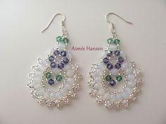 Bead-ah: Easter earrings.  free pattern