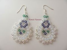 Bead-ah: Easter earrings.  free pattern