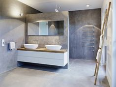 Nicht nur dieses Badezimmer ist gelungen. Ihr könnt das komplette Penthouse Projekt der Wiesbadener Innenarchitekten von Honey and Spice bei uns begutachten https://www.homify.de/projekte/179015/penthouse #homify #bathroomdesign #Badezimmerdesign