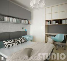 Skandynawska sypialnia Sypialnia - zdjęcie od MIKOŁAJSKAstudio
