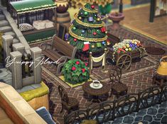 "𝗸𝗮𝘀 _🌳 on Twitter: ""案内所横の小さな商店街広場… "" Nintendo Switch Animal Crossing, Animal Crossing 3ds, Animal Crossing Pocket Camp, Ac New Leaf, Island Theme, Motifs Animal, Christmas Island, Spooky Scary, Animal Games"
