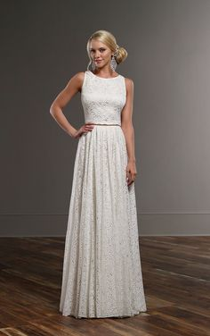 Just arrived! This Martina Liana perfectly-chic look for a perfectly-boho bride. This combination features the Tait wedding dress top and the Sadie wedding skirt. Square Wedding Dress, Simple Lace Wedding Dress, Two Piece Wedding Dress, Wedding Dress Gallery, Top Wedding Dresses, Luxury Wedding Dress, Boho Wedding Dress, Wedding Gowns, Bridal Gowns