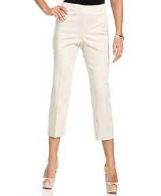 Jones New York Signature Cropped Capri Pants - this silhouette would be good on you