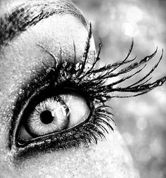 Feather lashes..