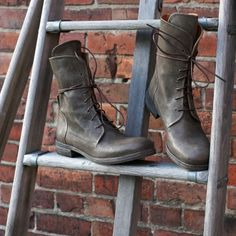 P. Monjo Clasch P-827 Military Lace up Boot - Smokey Grey