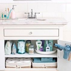 Bathroom organizing tips.