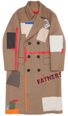 Raf Simons/Sterling Ruby, Camel Wool Patchwork Coat (Khaki)