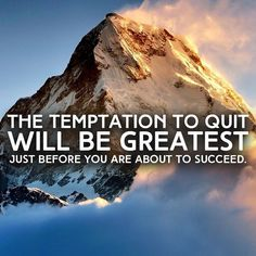 Feel like quitting? Your miracle or breakthrough is just ahead. Keep going! Push through the barrier. Make the obstacle your friend. Peace ❤ Ivonne Teoh