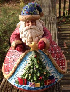 "Jim Shire Heartwood Creek Santa ""Gather Round"" Retired 2006 Enesco | eBay"