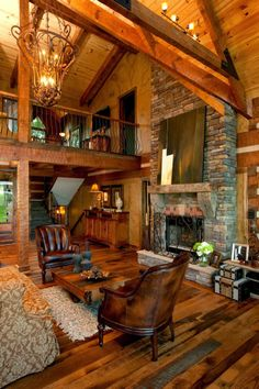 """Check out the award-winning """"Rose Hill"""" from StoneMill Log & Timber Homes"""