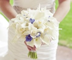 Something blue - delphiniums in your bridal bouquet