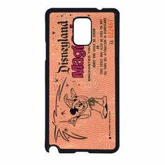 Disneyland tickets 2 Samsung Galaxy Note 4 Case