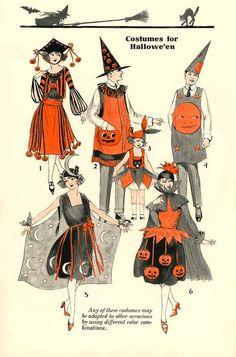 Button's Vintage Corner: About Vintage Halloween Costumes Mrs. Button's Vintage Corner: About Vintage Halloween Costumes Halloween Vintage, 1920 Halloween Costumes, Casa Halloween, Book Costumes, Holidays Halloween, Vintage Costumes, Halloween Party, Costume Ideas, Creepy Vintage