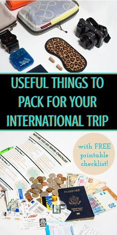 Knowing what to bring on a trip can be a hard thing to determine. These are some great items that you might overlook but will be happy to have when you arrive at your destination! | What to pack | Useful things | How to Travel |#TravelTips #PackingList #InternationalTravel