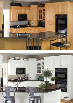 kitchen samples ventilation 77 best color images colors a before and after of the same features an all white makeover using advance