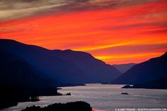 Columbia River Gorge Sunset | Beautiful Hood River | hood river ...