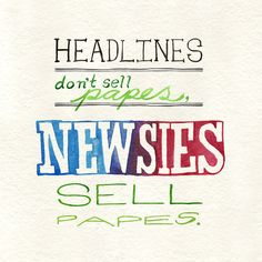I LOVE this! #newsies