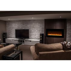 Solon Wall Mounted Electric Fireplace – Home design decor Room Design, Wall Mounted Fireplace, Wall Mounted Tv, Wood Fireplace, Home Design Decor, Simple Living Room, Fireplace, Fireplace Wall, Living Room Designs