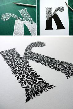 Esta artista recorta a mano intrincadas obras de arte de una sola hoja de papel