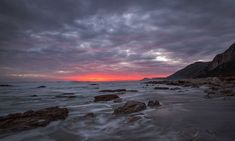 Scarborough stormy sunset Canvas Art, Canvas Prints, Fine Art Photography, Sally, Africa, Sunset, Interior, Outdoor, Image