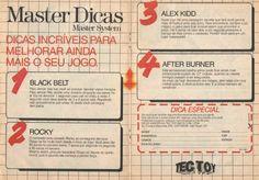 Dicas de jogos Master System (1990)