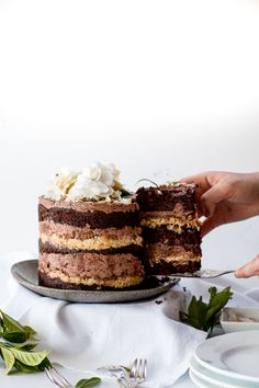 momofuku german chocOlate cake with pecan butter and espresso frosting
